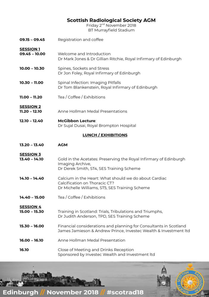 2018 AGM Programme